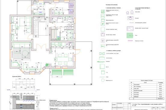 1 этаж_ План расстановки мебели